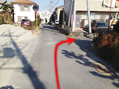 第二駐車場までの道順